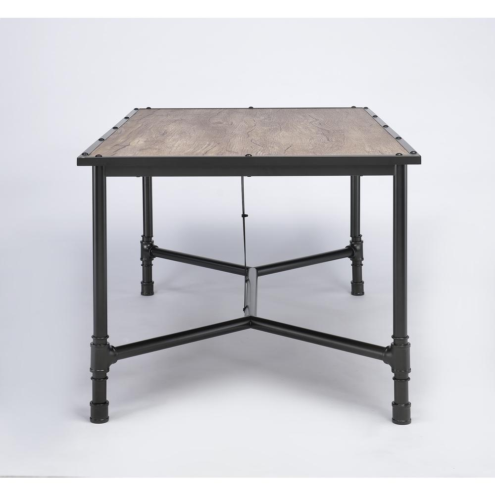 Caitlin Bar Table, Rustic Oak & Black. Picture 12