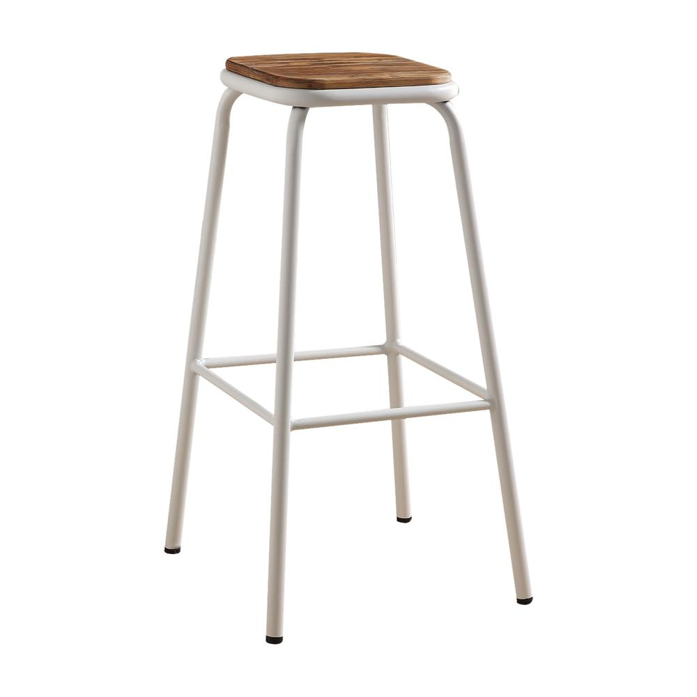 """Scarus Bar Stool (Set-2), Natural & Red, 30"""" Seat Height. Picture 5"""