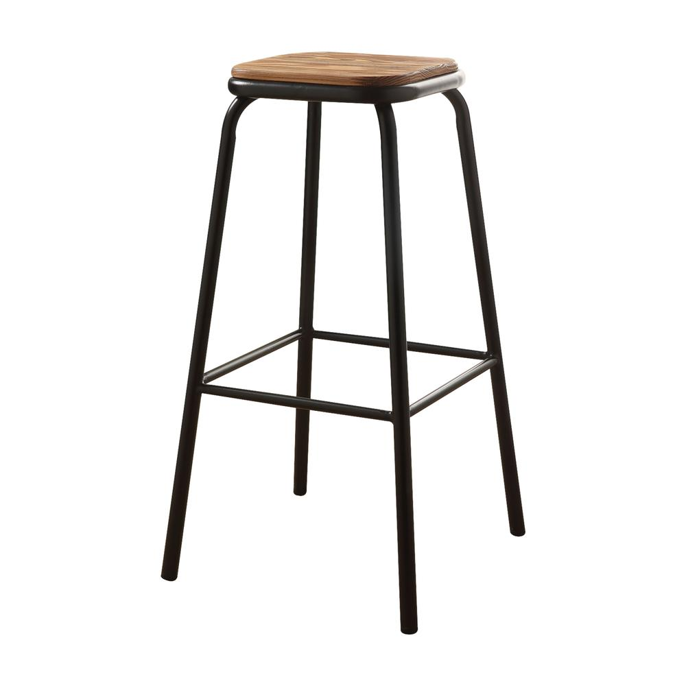 """Scarus Bar Stool (Set-2), Natural & Red, 30"""" Seat Height. Picture 6"""