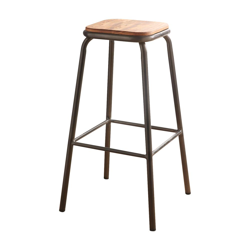 """Scarus Bar Stool (Set-2), Natural & Red, 30"""" Seat Height. Picture 8"""