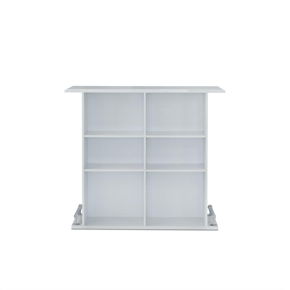 Kite Bar Table, White High Gloss. Picture 2