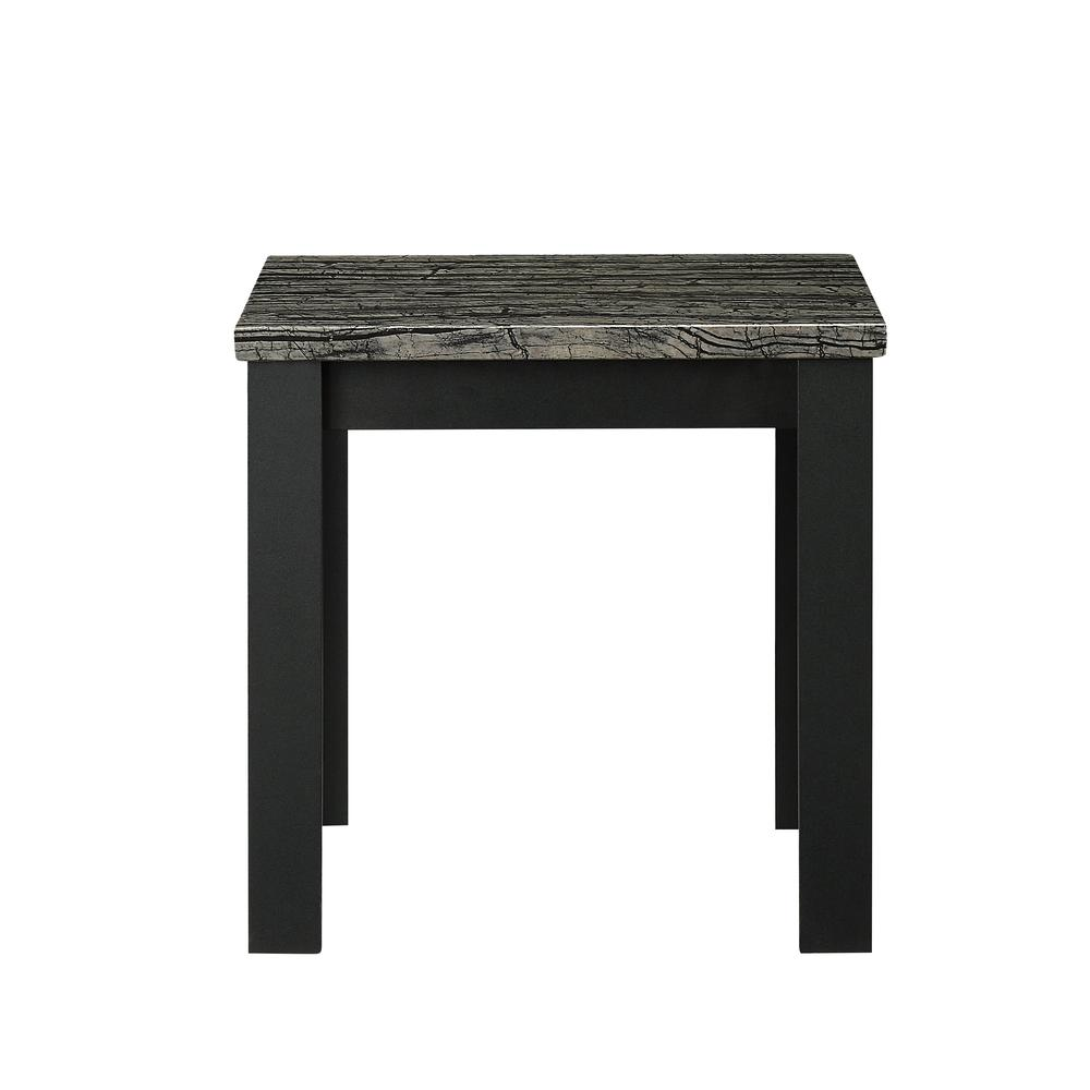 Carly 3Pc Pack Coffee/End Table Set, Faux Marble & Cherry. Picture 21