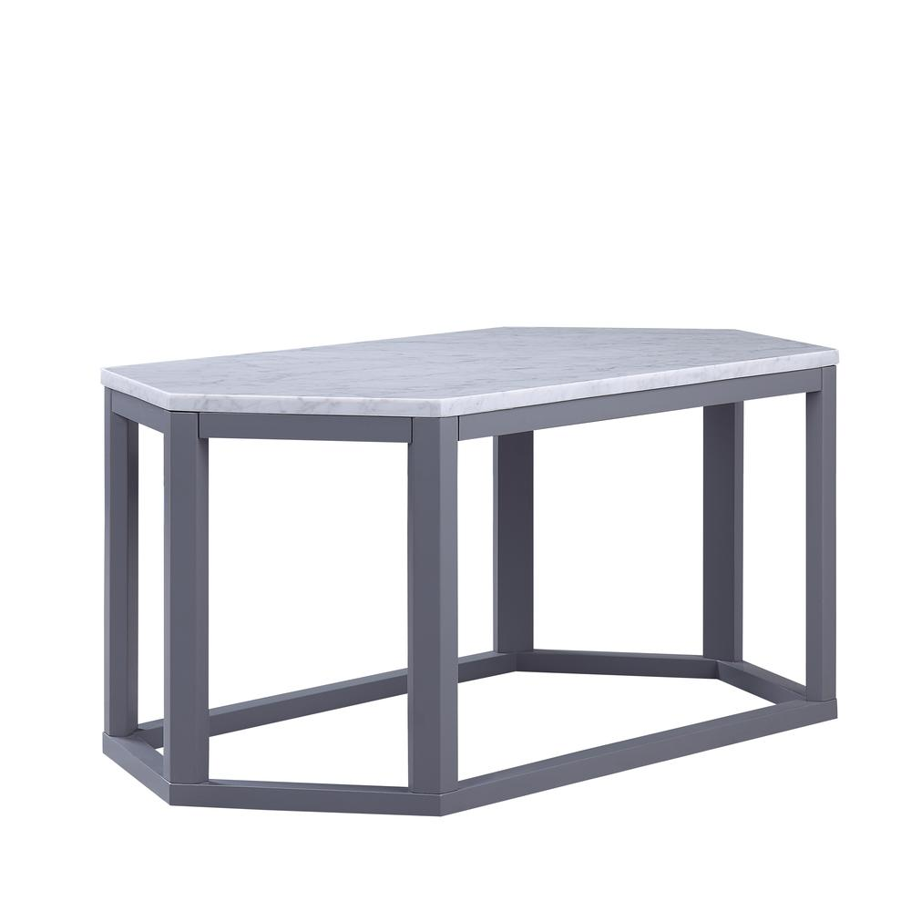 Reon Coffee Table, Marble & Gray. Picture 3