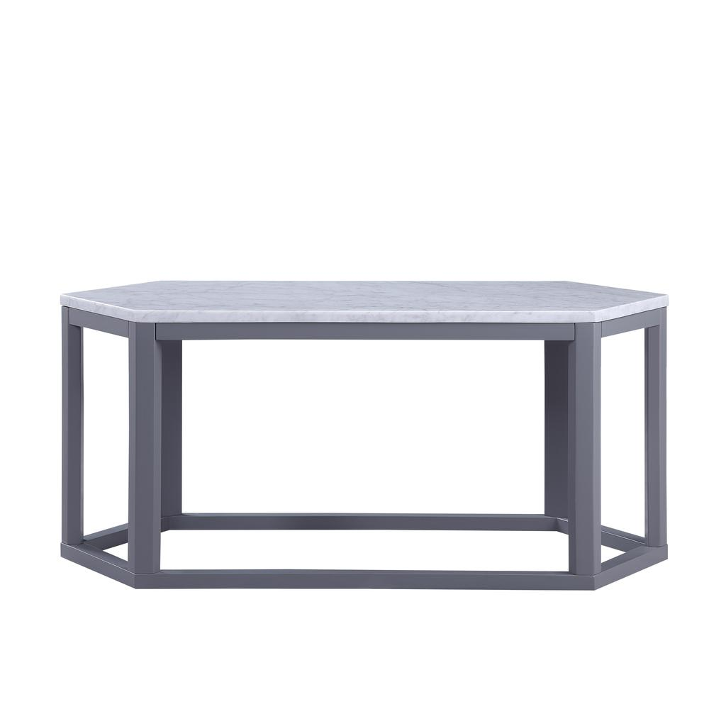 Reon Coffee Table, Marble & Gray. Picture 4