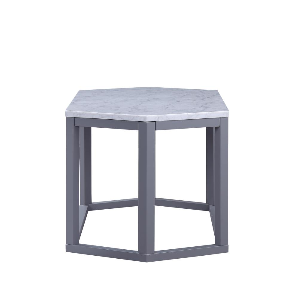 Reon Coffee Table, Marble & Gray. Picture 5