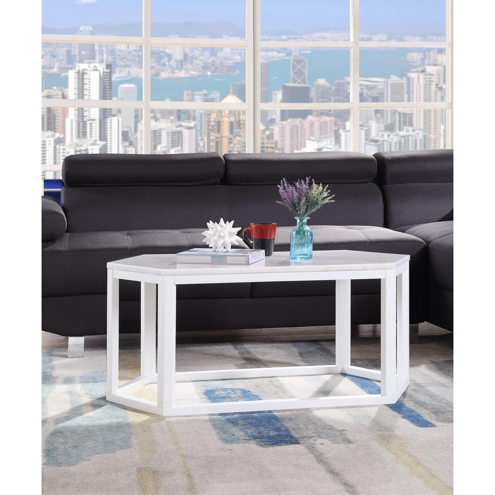 Reon Coffee Table, Marble & Gray. Picture 16