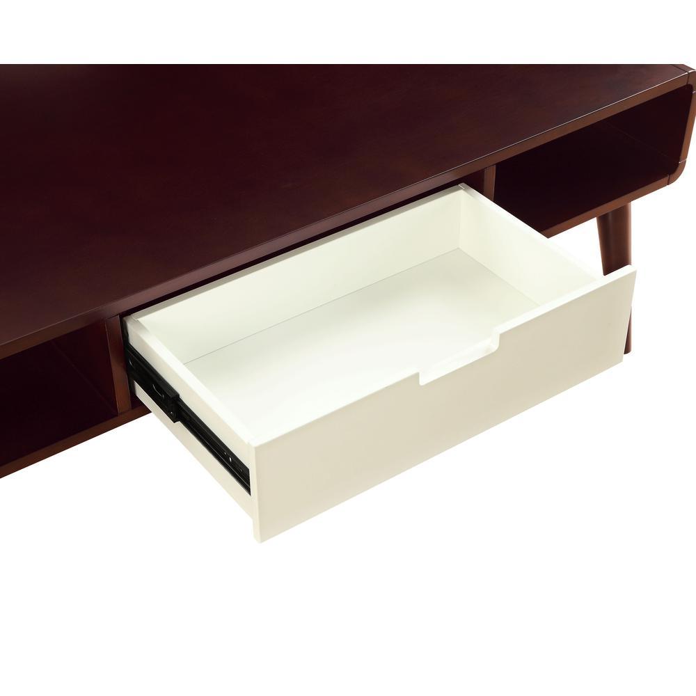 Christa Coffee Table, Espresso & White. Picture 3