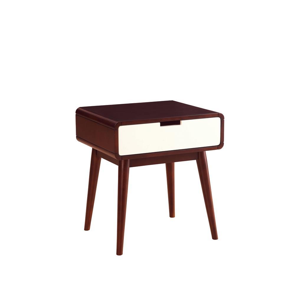 Christa Coffee Table, Espresso & White. Picture 7