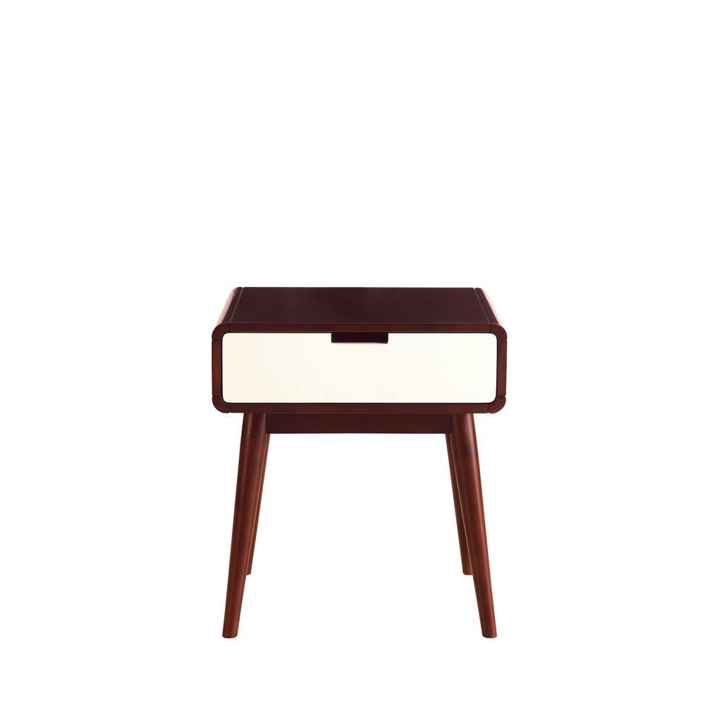 Christa Coffee Table, Espresso & White. Picture 8