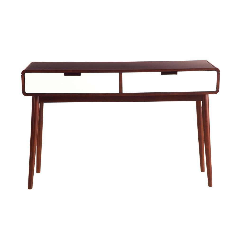 Christa Coffee Table, Espresso & White. Picture 14