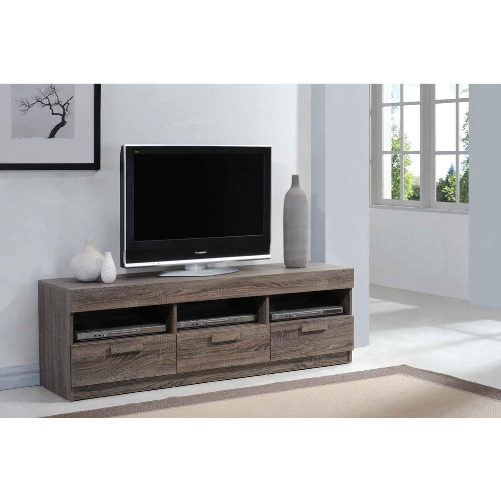 """Alvin TV Stand, Rustic Oak for Flat Screens TVs up to 60"""". Picture 1"""