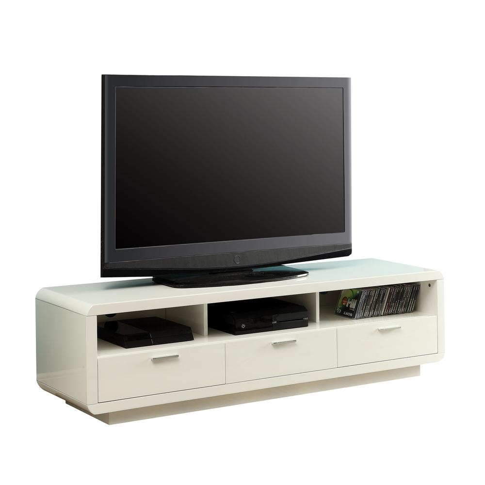 "Randell TV Stand, White for Flat Screens TVs up to 60"". Picture 1"