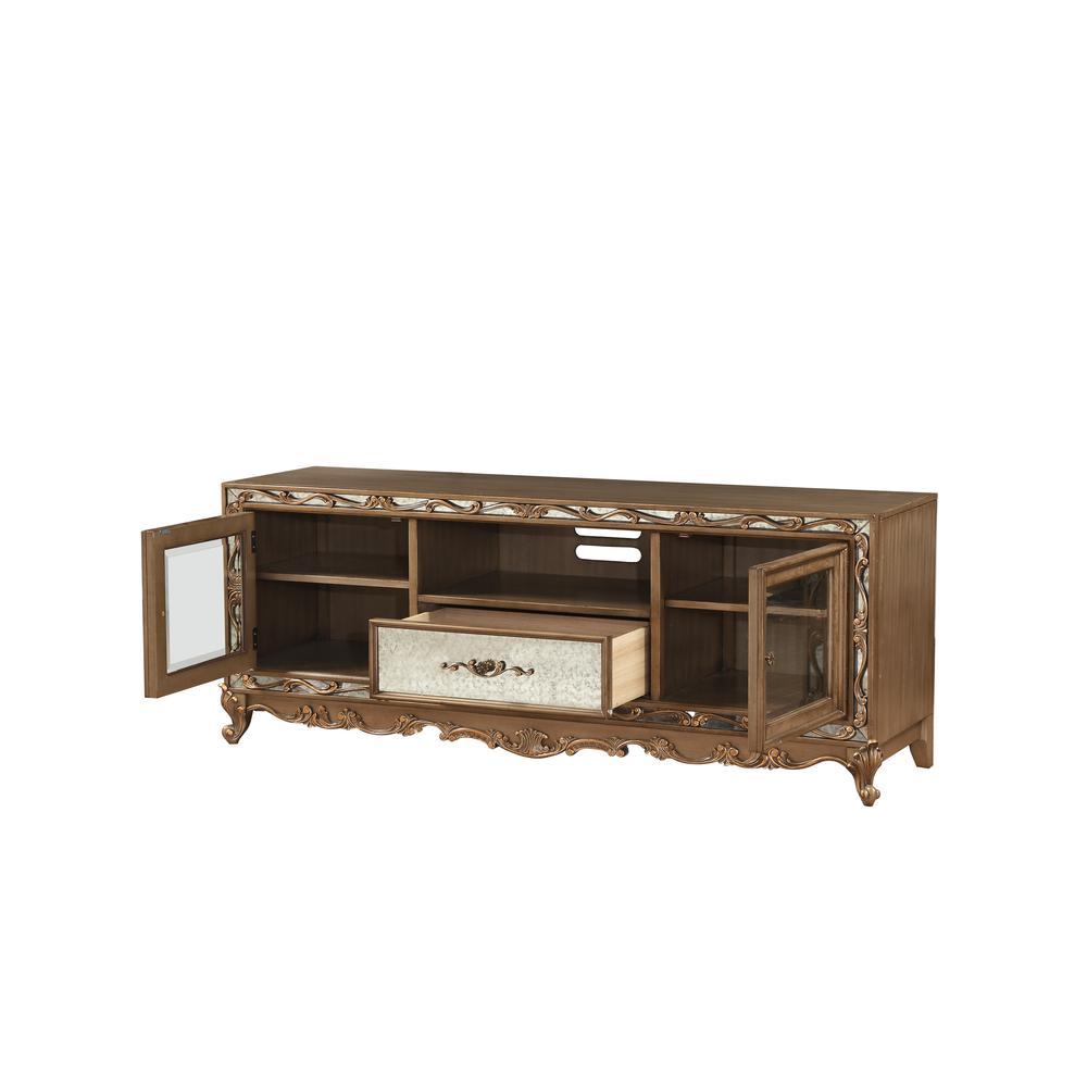 Orianne Queen Bed, Champagne PU & Antique Gold (1Set/4Ctn). Picture 39