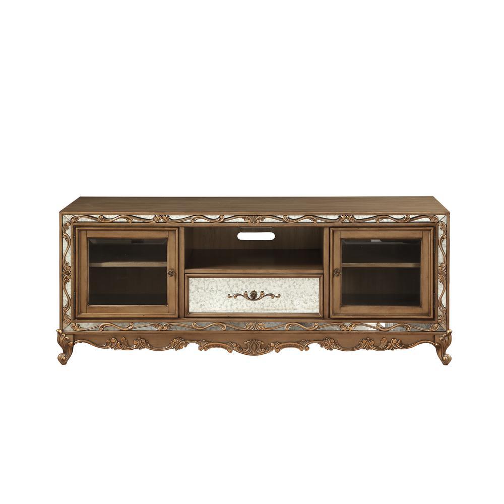 Orianne Queen Bed, Champagne PU & Antique Gold (1Set/4Ctn). Picture 41