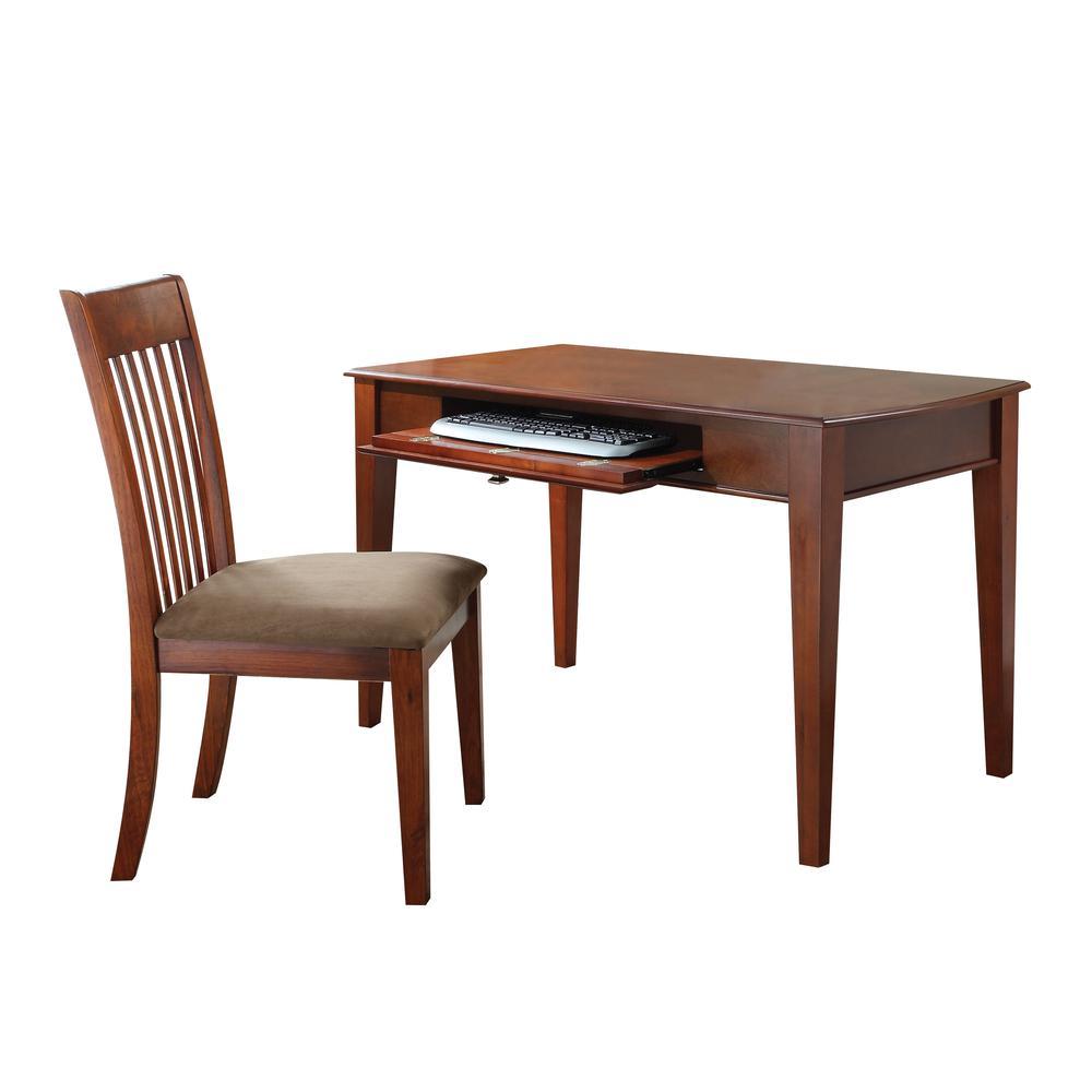 Venetia 2Pc Pack Desk & Chair, Oak Finish. Picture 1