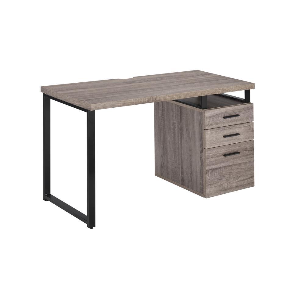 Coy Desk, Gray Oak (1Set/2Ctn). Picture 1