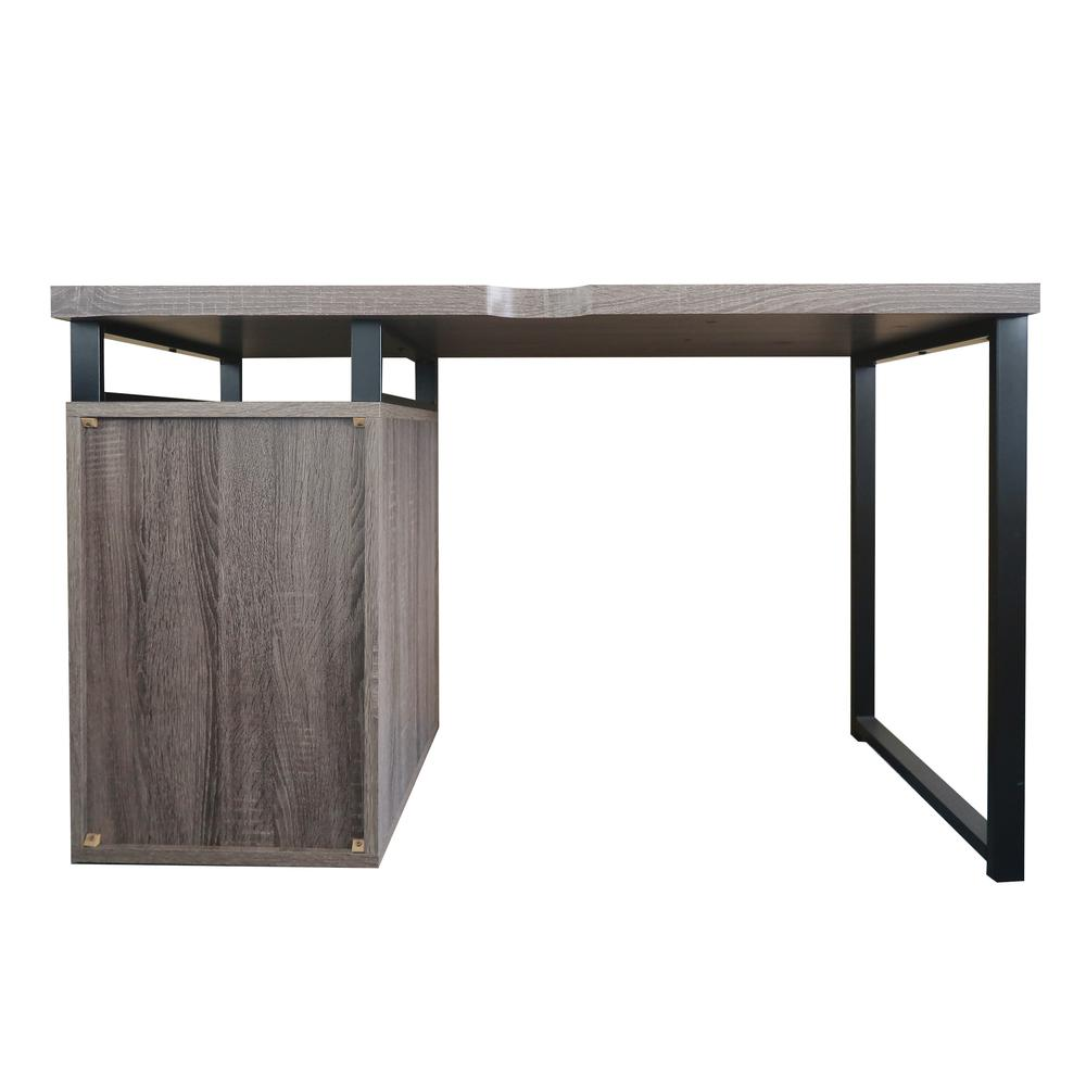 Coy Desk, Gray Oak (1Set/2Ctn). Picture 2