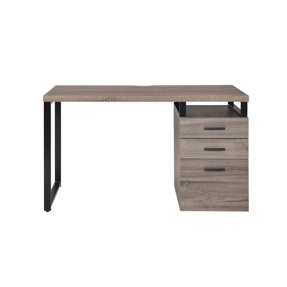 Coy Desk, Gray Oak (1Set/2Ctn). Picture 3