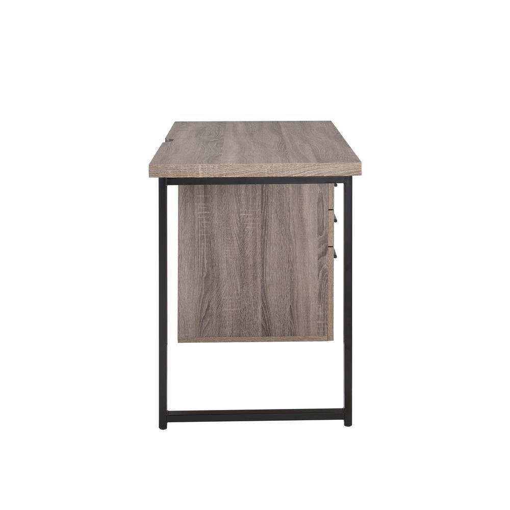 Coy Desk, Gray Oak (1Set/2Ctn). Picture 4