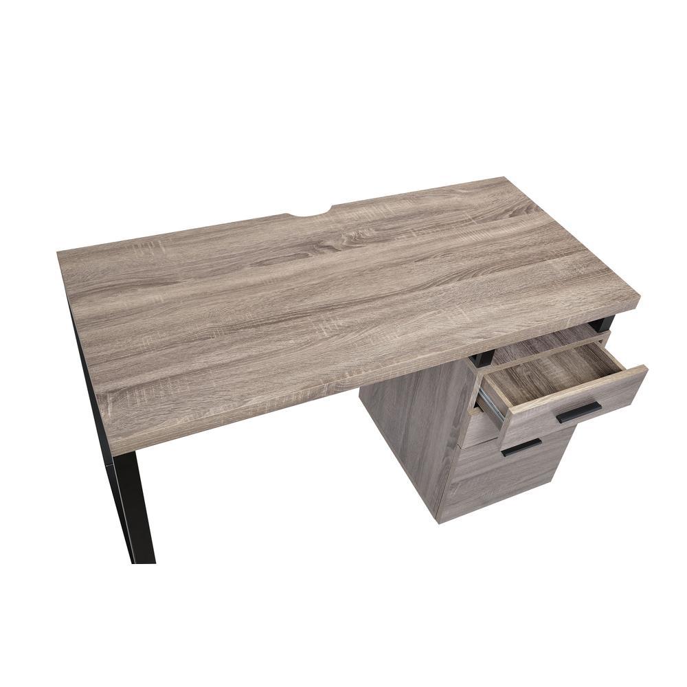 Coy Desk, Gray Oak (1Set/2Ctn). Picture 5