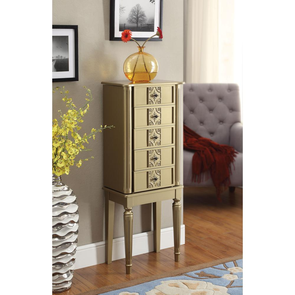 Tammy Jewelry Armoire, Gold. Picture 2