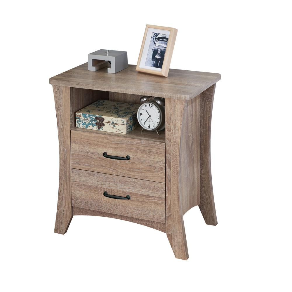 Colt Night Table, Rustic Natural. Picture 2