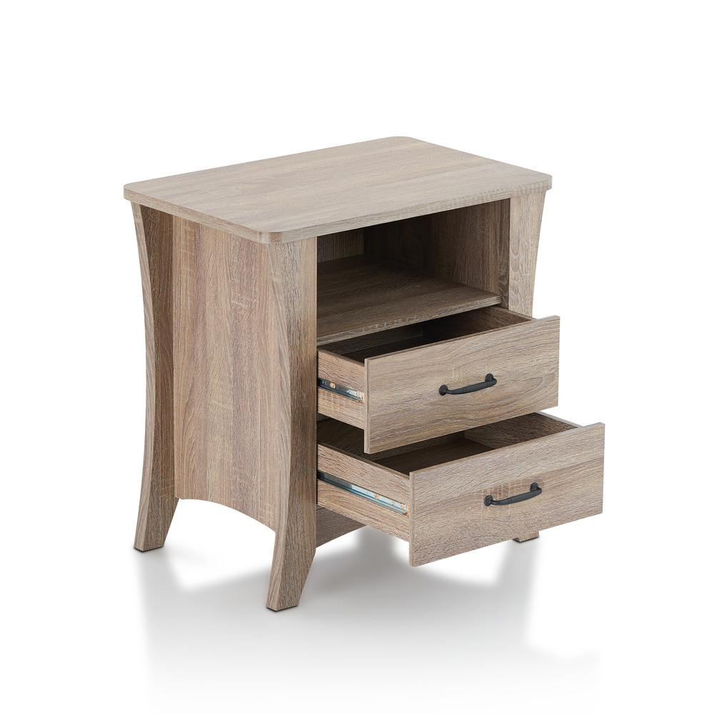 Colt Night Table, Rustic Natural. Picture 3