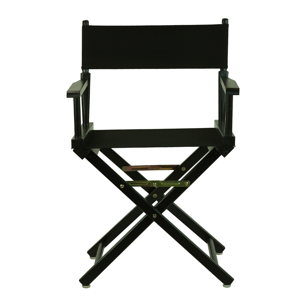 18 Quot Director S Chair Black Frame Black Canvas