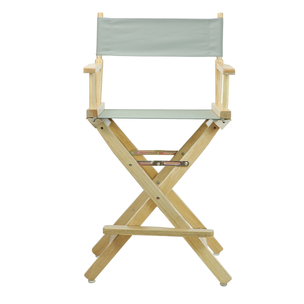 24 Quot Director S Chair Natural Frame Gray Canvas