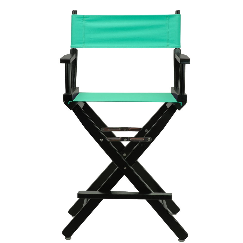 24 Quot Director S Chair Black Frame Teal Canvas
