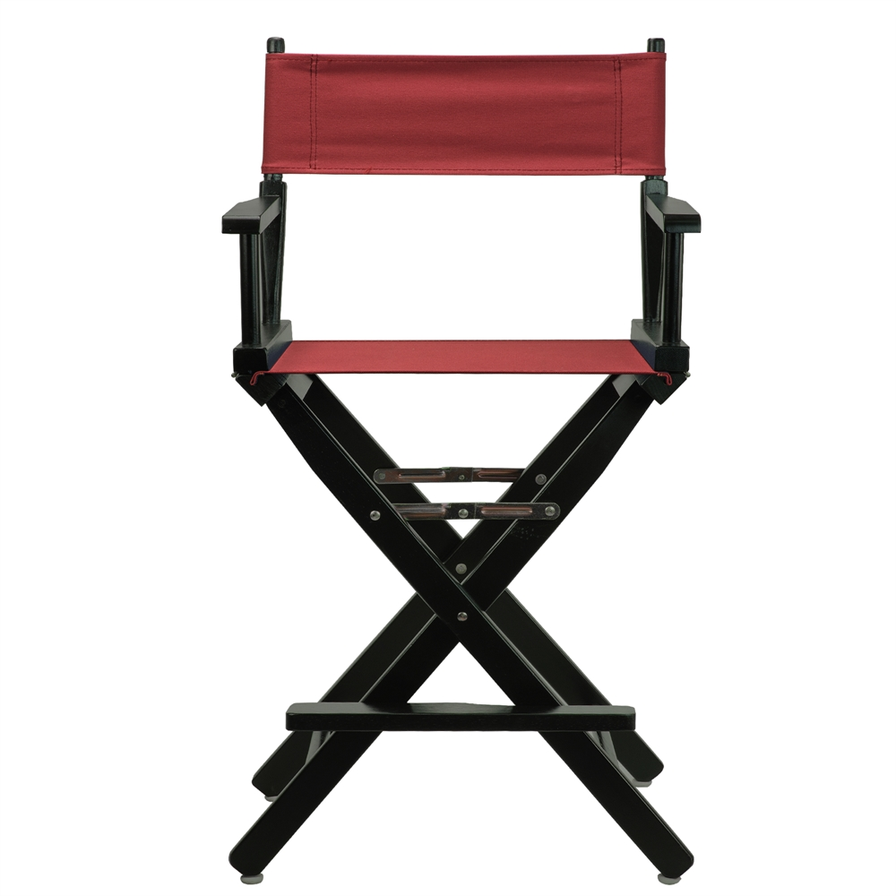 24 Quot Director S Chair Black Frame Burgundy Canvas
