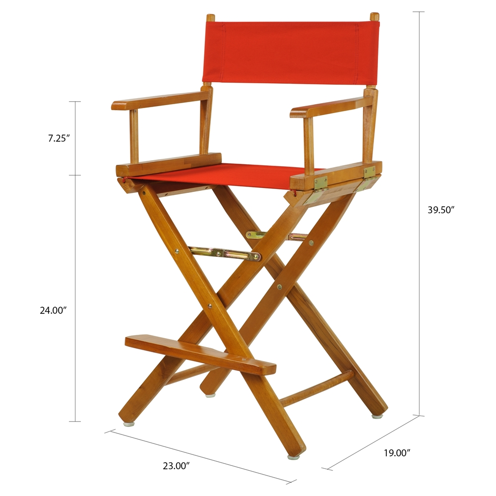 24 Quot Director S Chair Honey Oak Frame Red Canvas