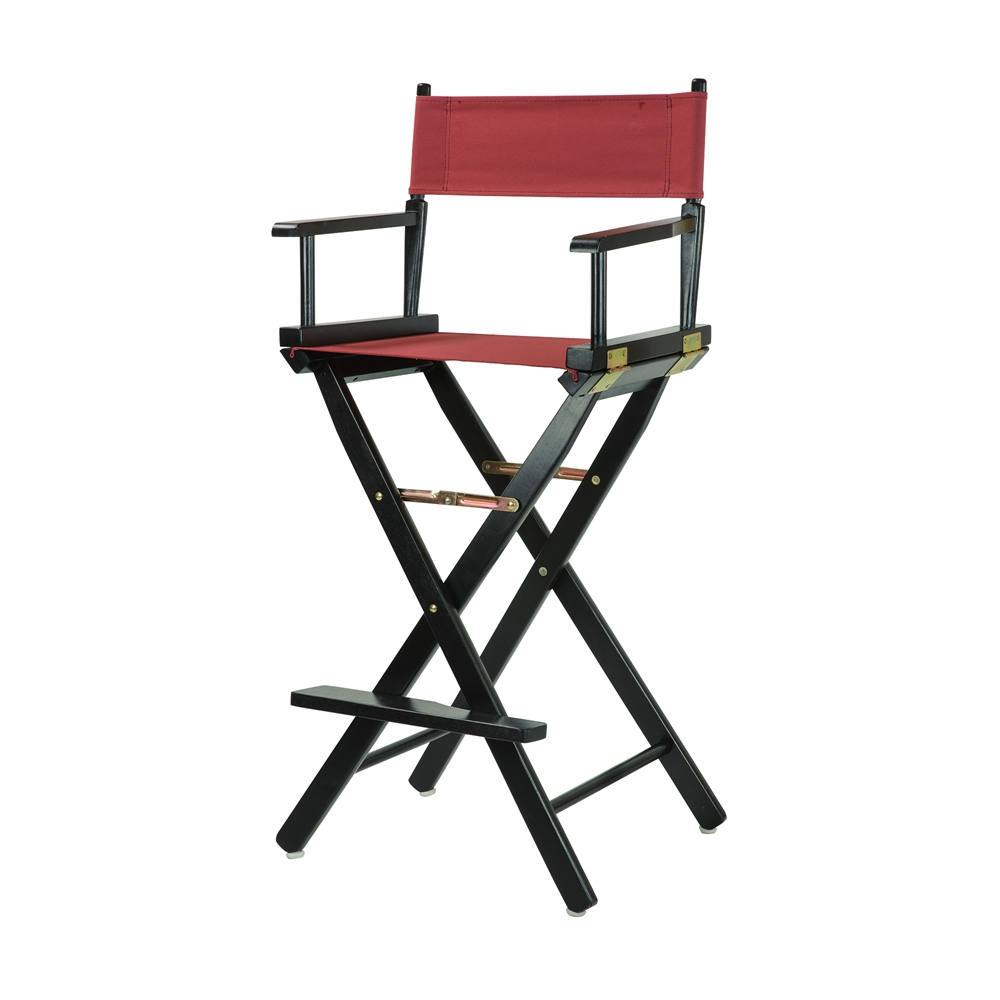 30 Quot Director S Chair Black Frame Burgundy Canvas