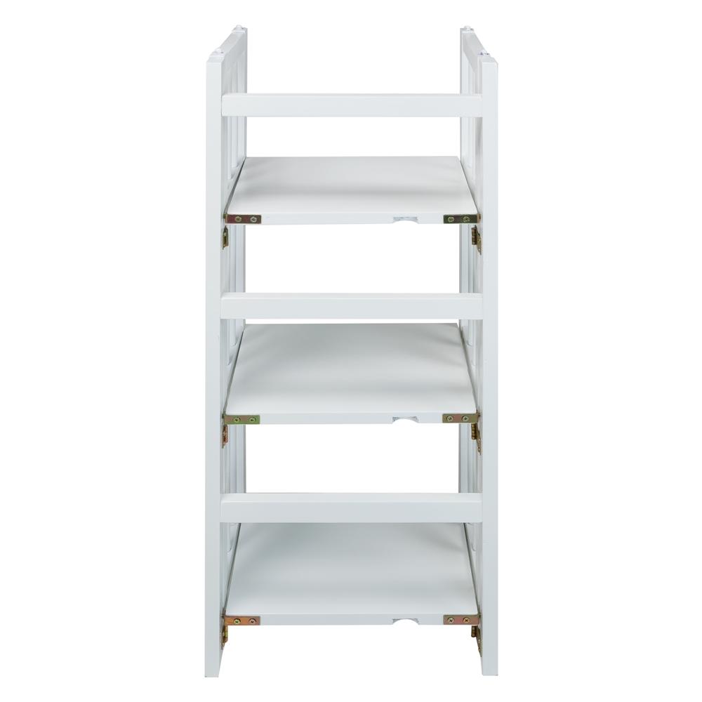 3 Shelf Folding Bookcase 14 Quot Wide White