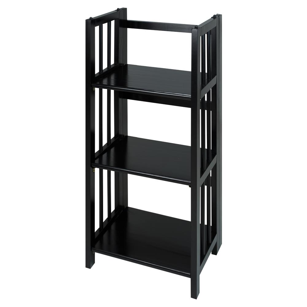 3 Shelf Folding Bookcase 14 Quot Wide Black