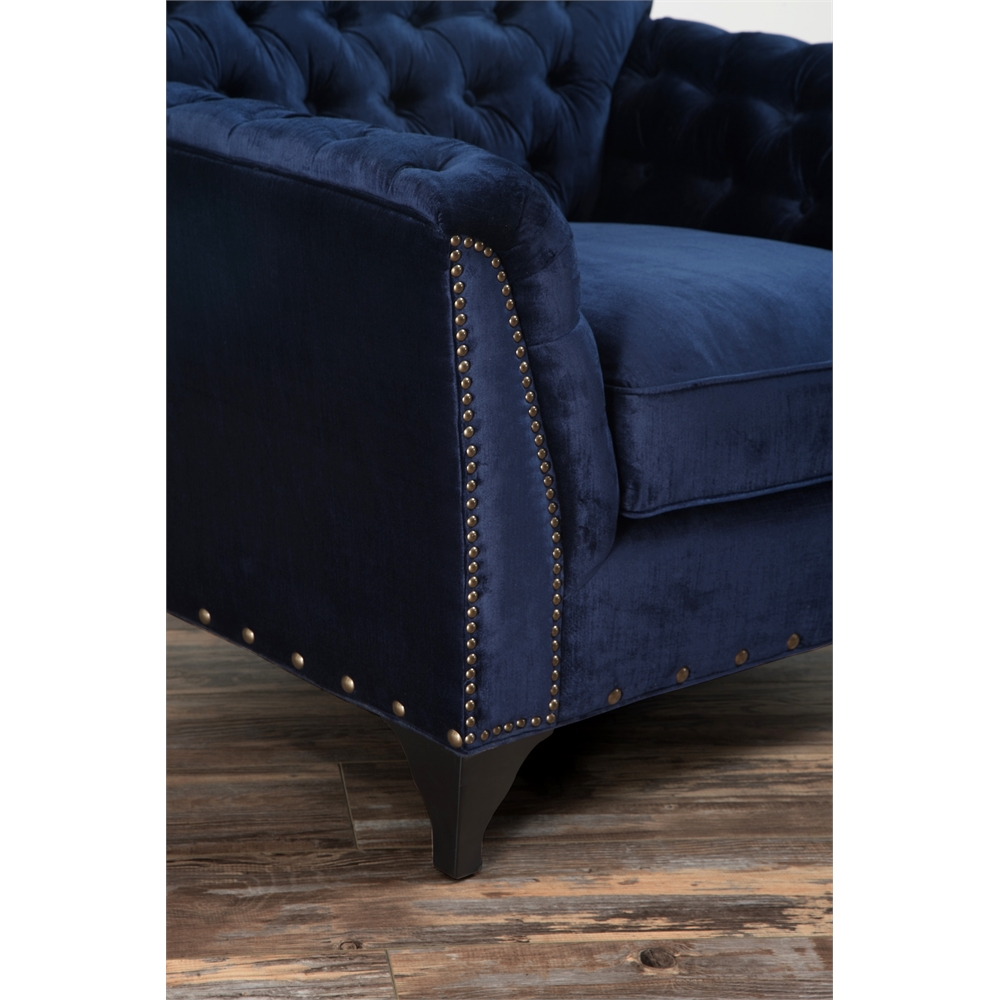 Waterford Navy Velvet Club Chair