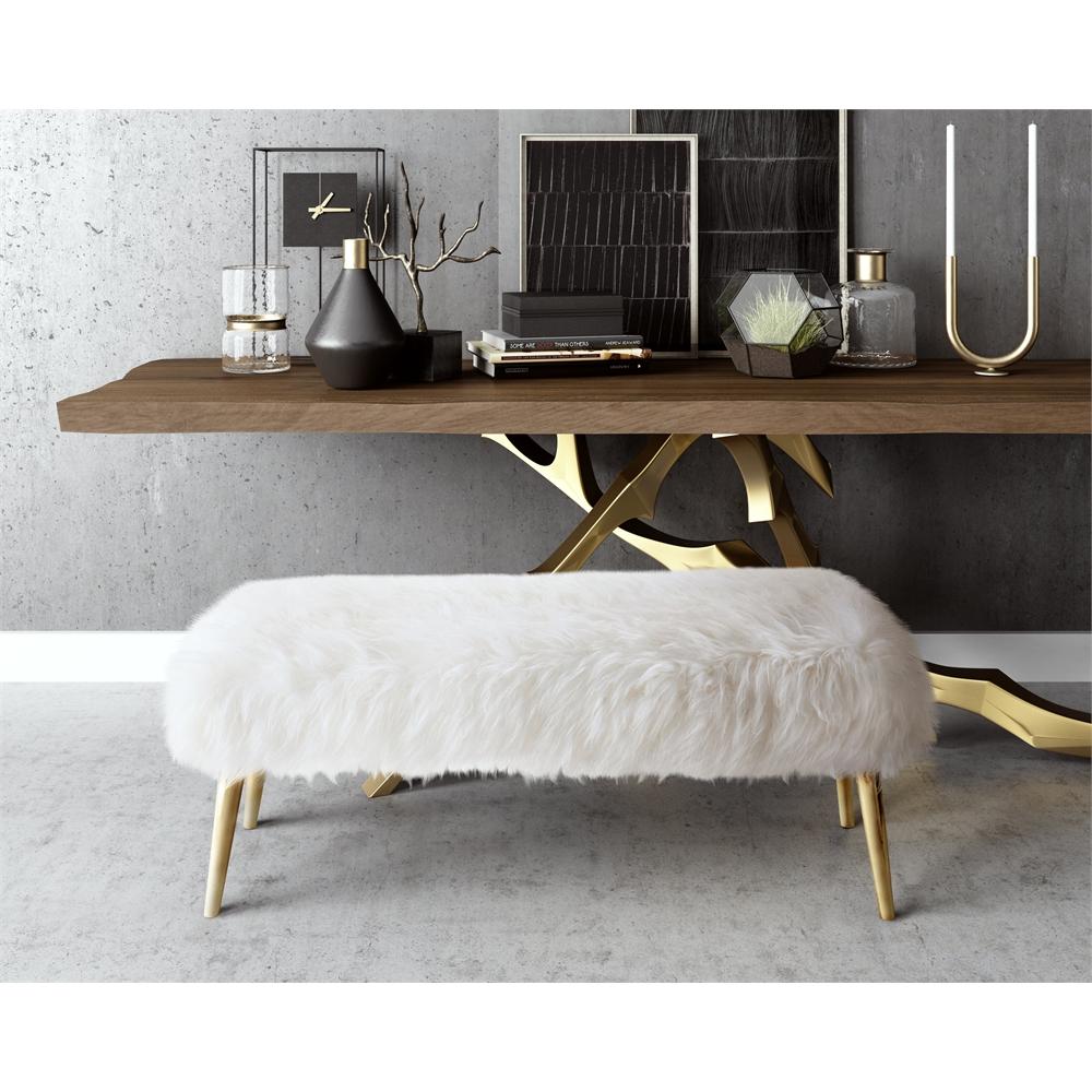 Bedroom Ideas Gray Sleigh Bed Bedroom Ideas Small Bedroom Wall Art Bedroom Bench Stool: Churra White Sheepskin Bench