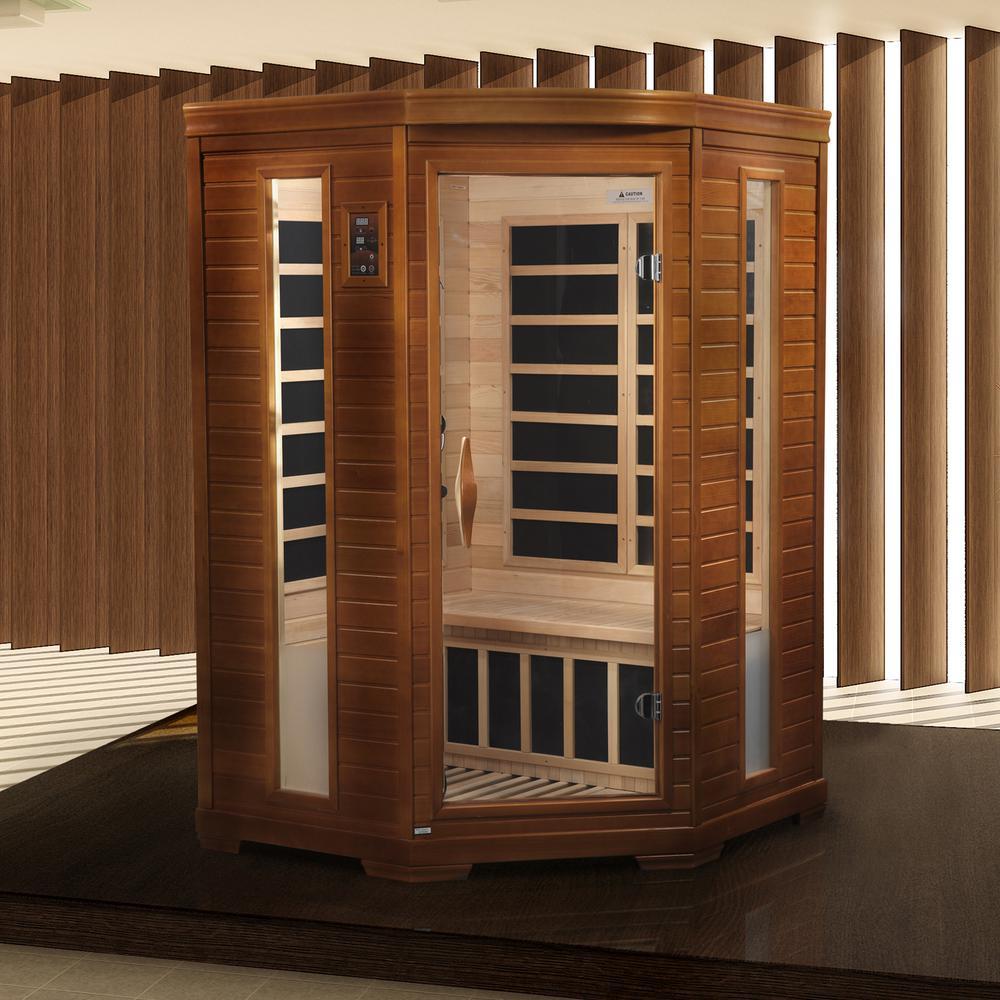 "Dynamic ""Heming"" 2-person corner Low EMF Far Infrared Sauna. Picture 4"