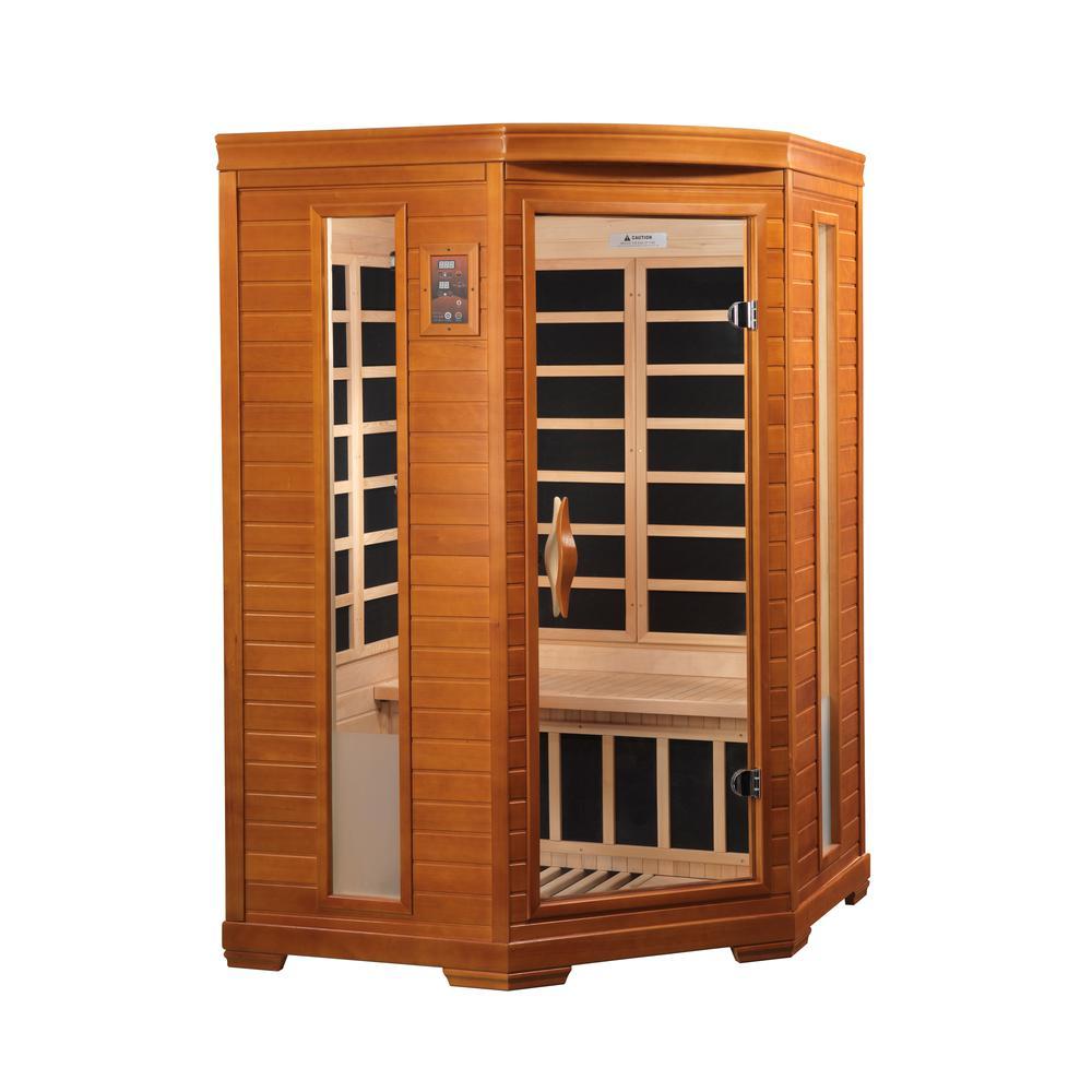 "Dynamic ""Heming"" 2-person corner Low EMF Far Infrared Sauna. Picture 1"