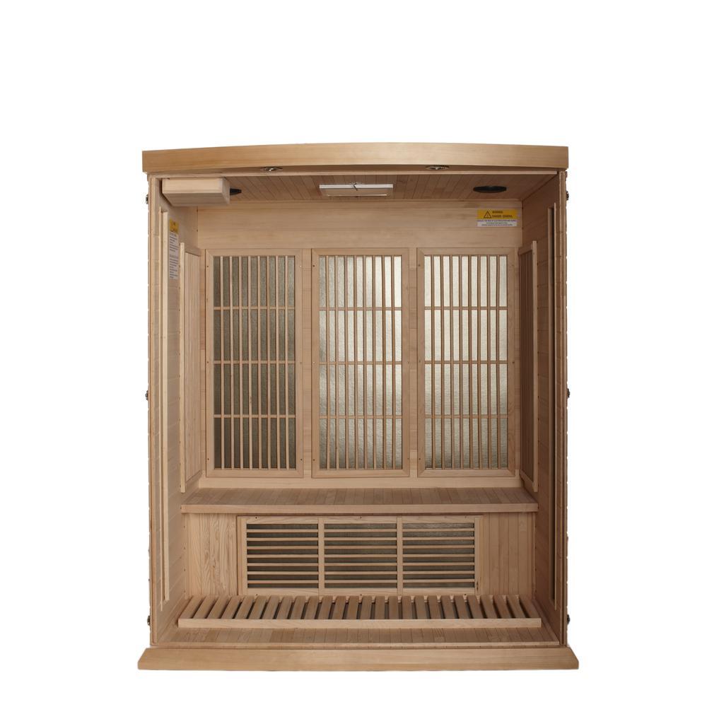 Maxxus 3 Per Low EMF FAR Infrared Carbon Canadian Hemlock Sauna