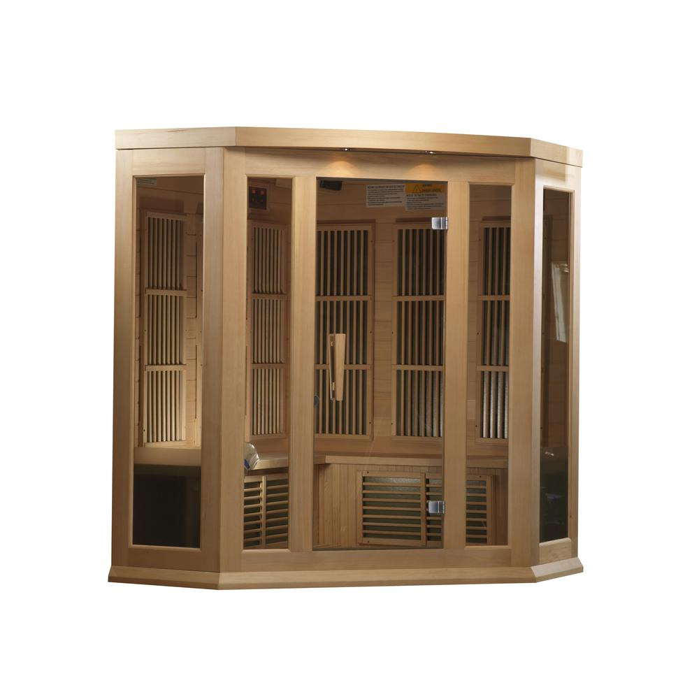 Maxxus 3 Per Corner Low EMF FAR Infrared Carbon Canadian Hemlock Sauna. Picture 5