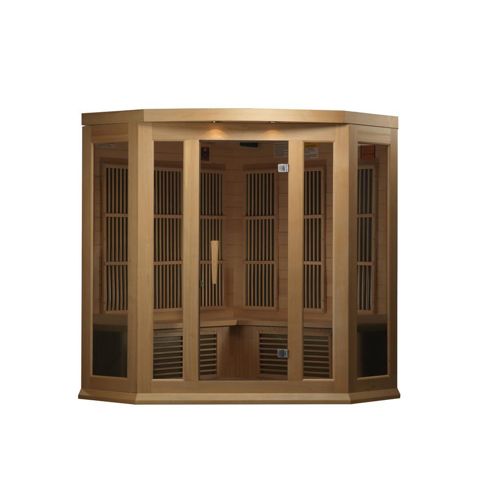 Maxxus 3 Per Corner Low EMF FAR Infrared Carbon Canadian Hemlock Sauna. Picture 6