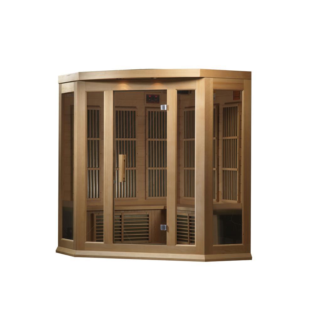 Maxxus 3 Per Corner Low EMF FAR Infrared Carbon Canadian Hemlock Sauna. Picture 7
