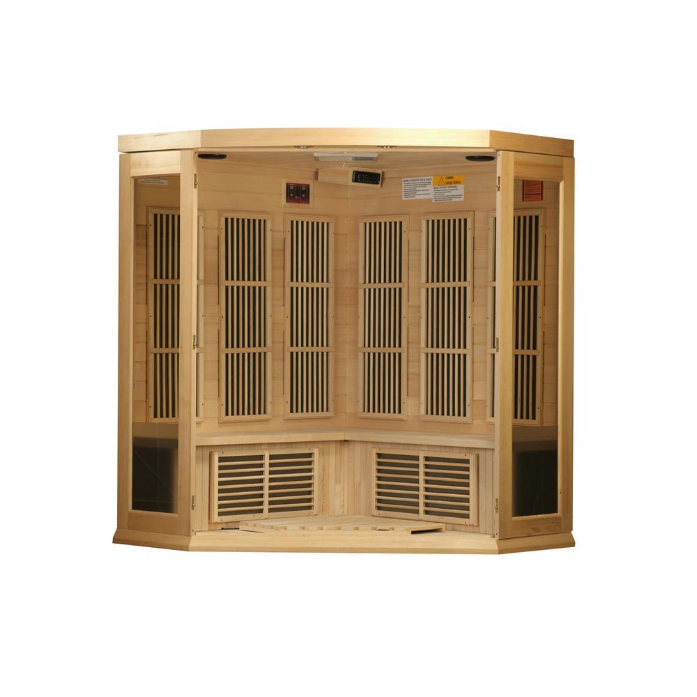 Maxxus 3 Per Corner Low EMF FAR Infrared Carbon Canadian Hemlock Sauna. Picture 8