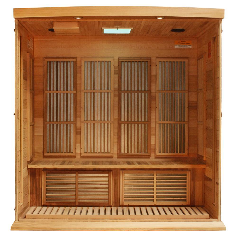 Maxxus 4 Per Low EMF FAR Infrared Carbon Canadian Red Cedar Sauna