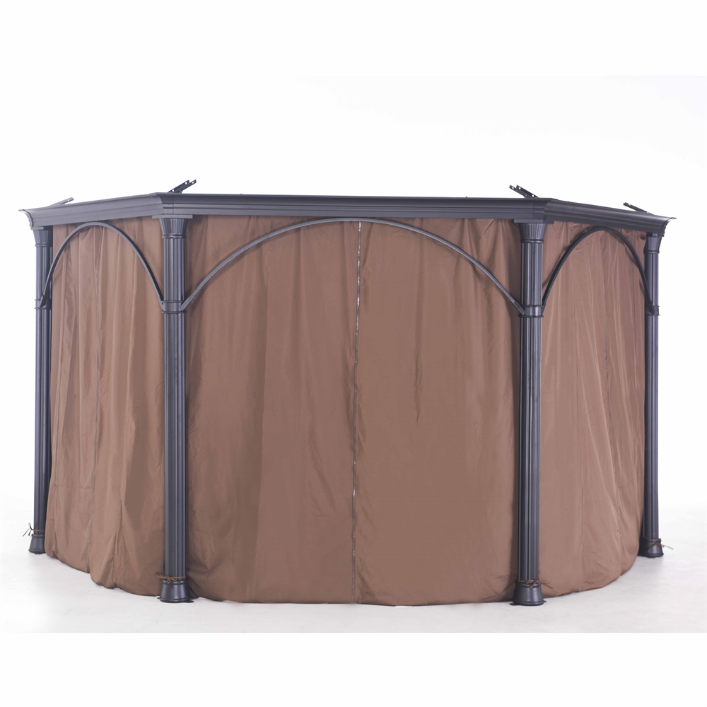 Sunjoy Universal Curtain For Hex Hardtop Gazebo