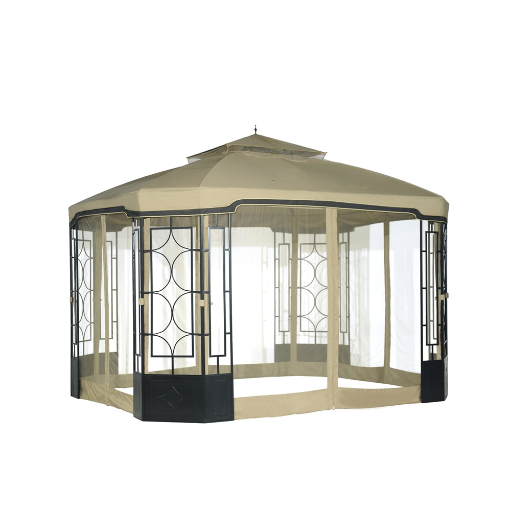 Alcove gazebo mosquito netting for running change - Insect netting for gazebo ...