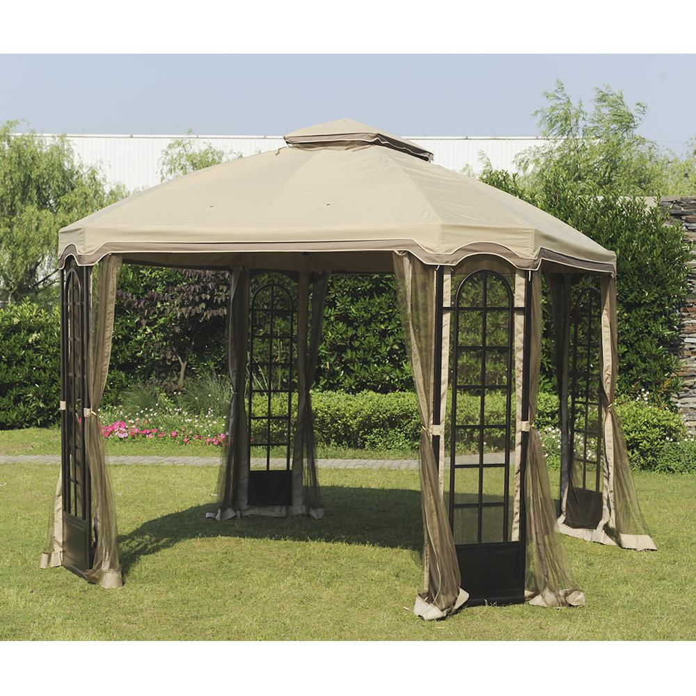 Replacement Canopy Set For L Gz454pst C 10x12 Terrace Gazebo
