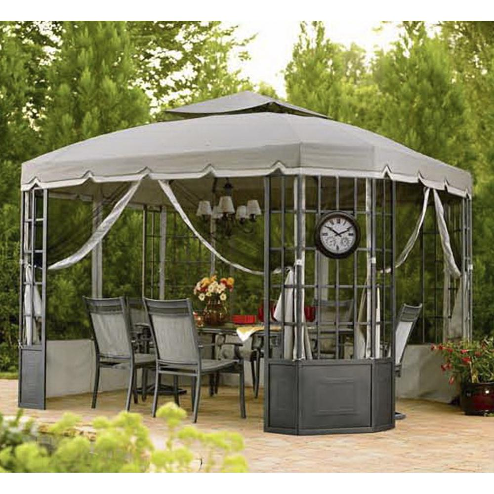 Replacement Canopy Set For L Gz120pst 2 Bay Window Gazebo