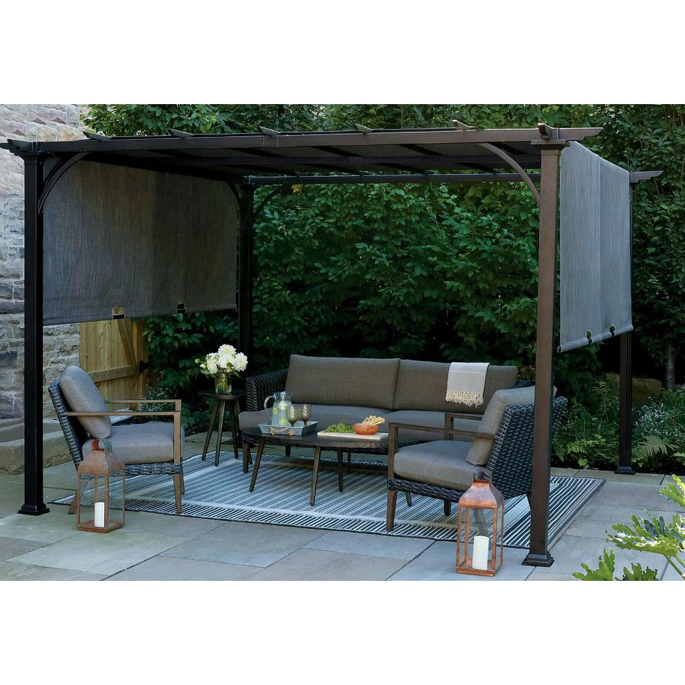 Sunjoy Replacement Canopy for L-PG135PST-D Canvas SUNSHADE ... on Canvas Sun Shade Pergola id=27591